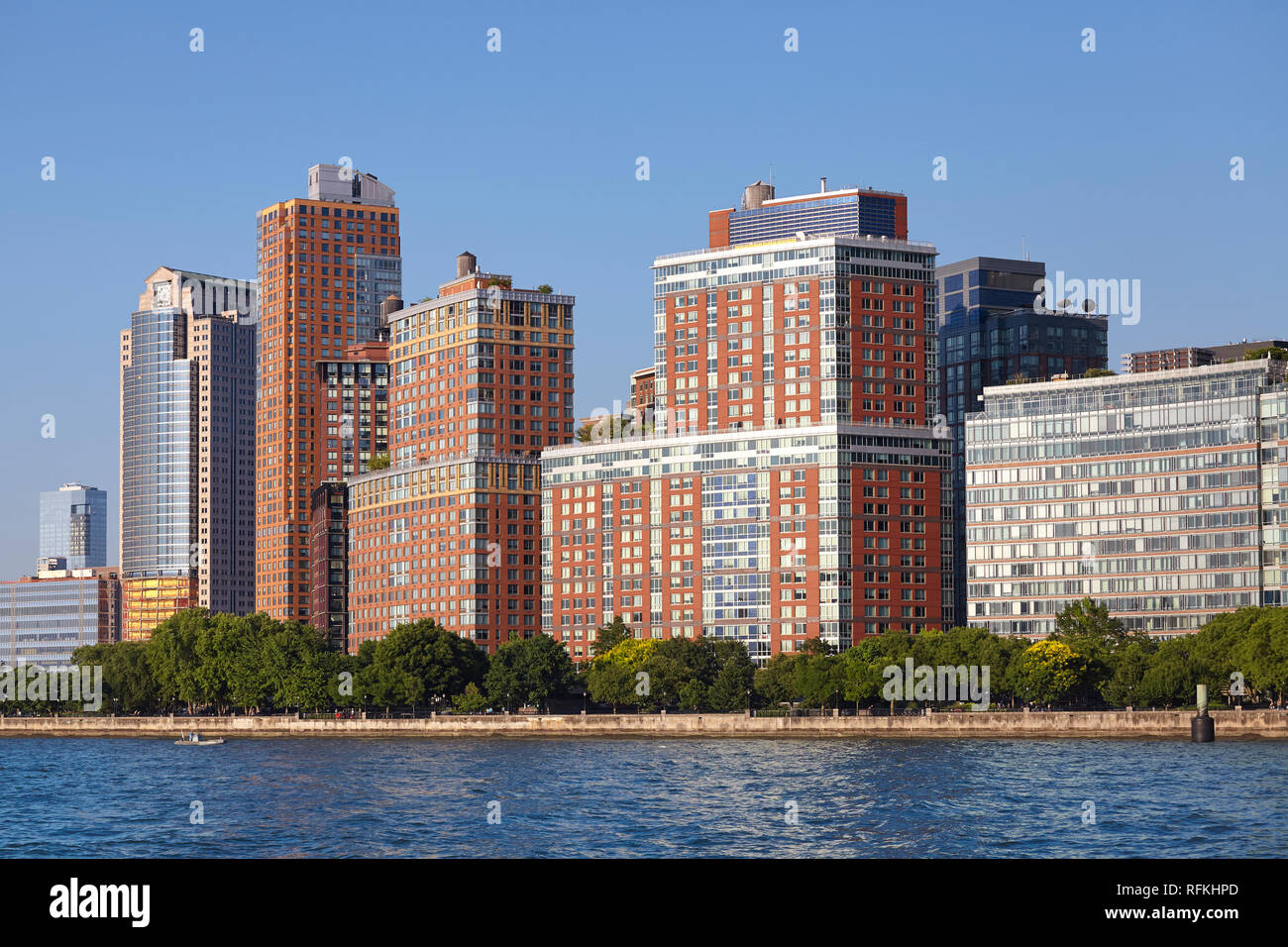 Manhattan Tribeca waterfront Stadtbild, New York City, USA. Stockbild