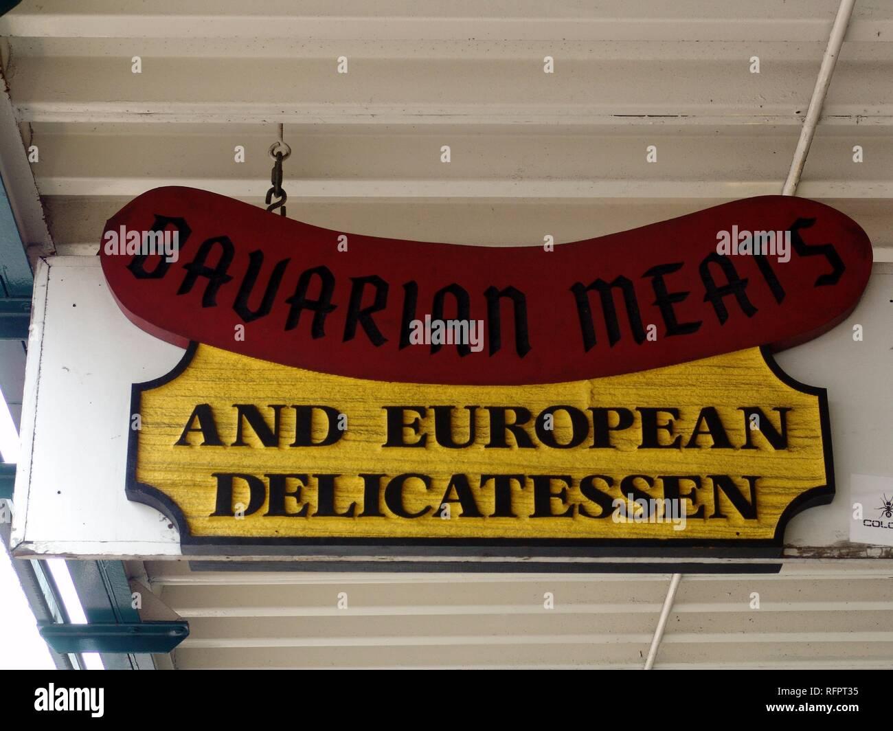 USA, Vereinigte Staaten von Amerika: Delikatessengeschäft. Stockfoto