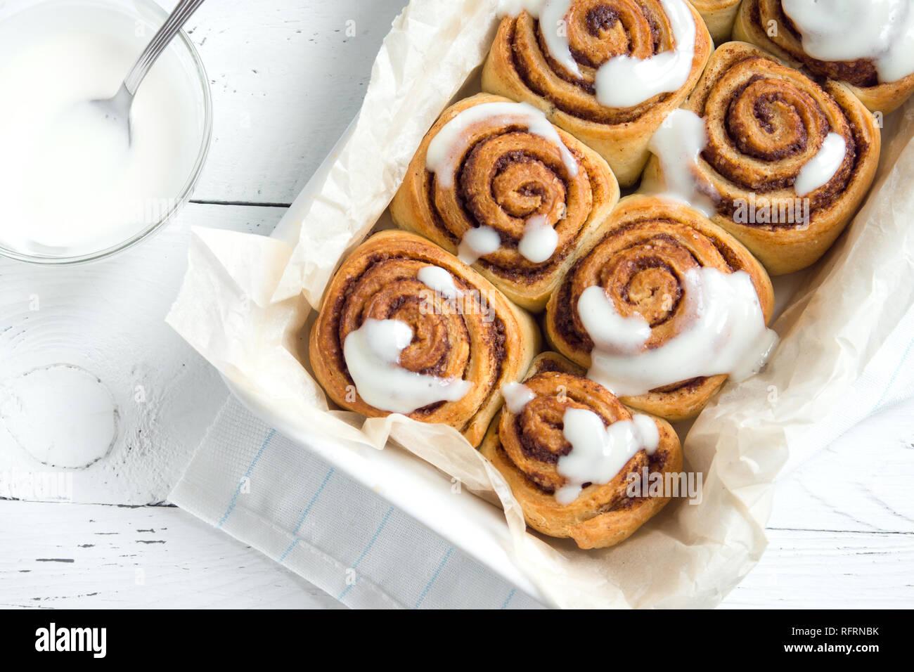 Zimtschnecken Oder Cinnabon Hausgemachtes Rezept Des Traditionellen