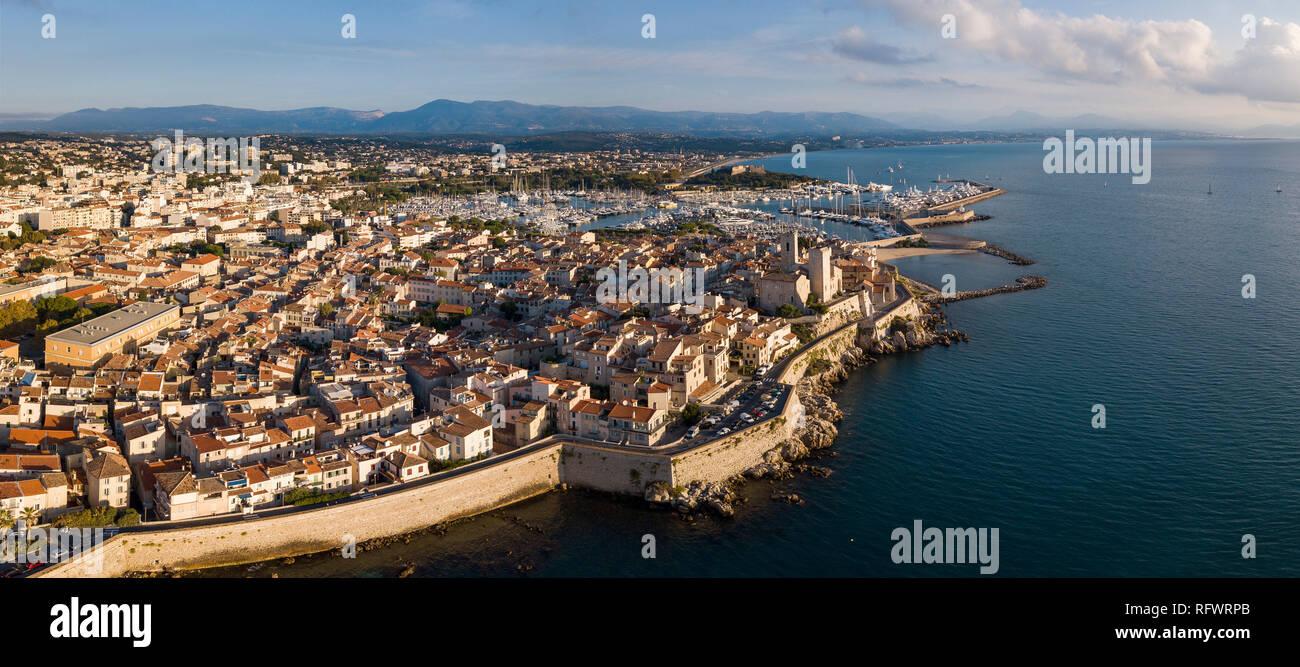 Antibes, Provence-Alpes-Cote d'Azur, Côte d'Azur, Frankreich, Mittelmeer, Europa Stockbild