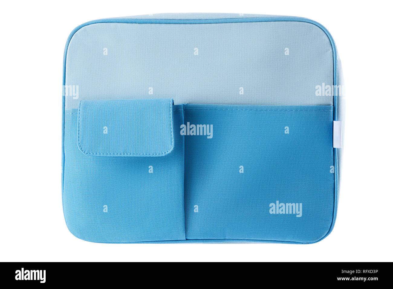 7fe1e744a415f Blaue Tasche oder Rucksack mit Beschneidungspfaden auf weißem Hintergrund.  Stockbild