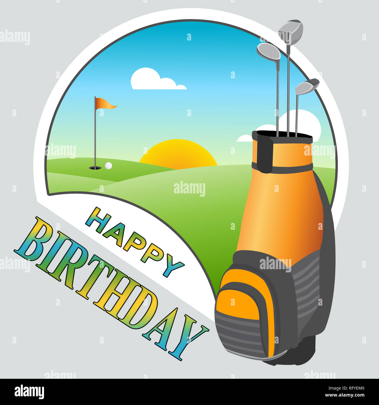 Happy Birthday Golf Nachricht Als Uberraschung Gruss Fur Golfspieler Congrats Golffanatiker
