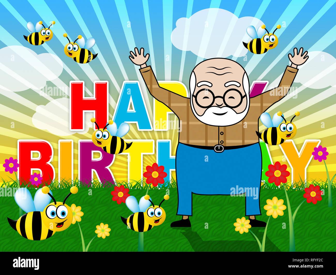 Alles Gute Zum Geburtstag Opa Karte Als Uberraschung Gruss Fur Opa
