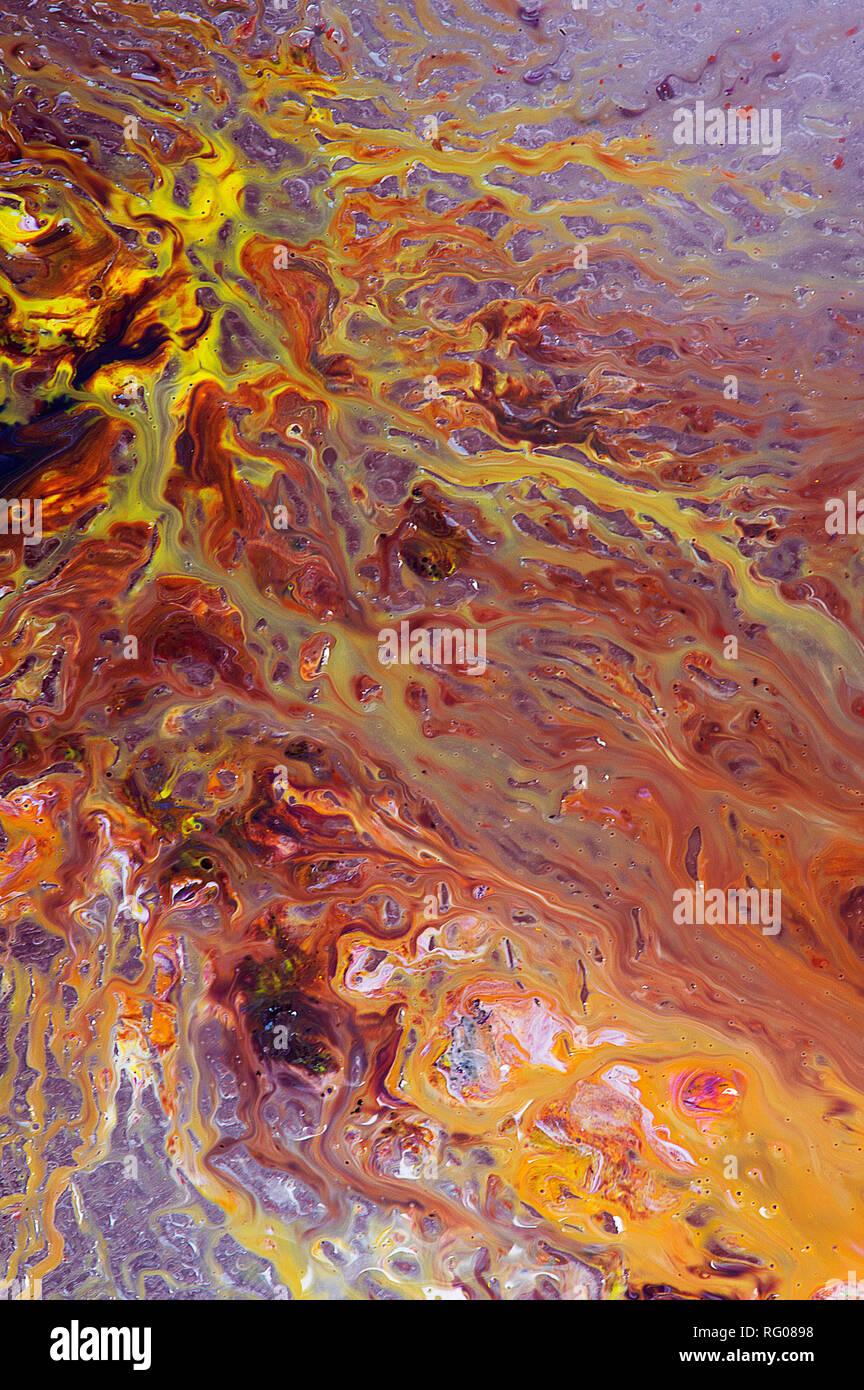 Farbe (Amerikanisches Englisch), oder Farbe (Commonwealth Englisch), ist das Merkmal der menschlichen visuellen Wahrnehmung durch Farbe Kategorien beschrieben, mit Stockbild