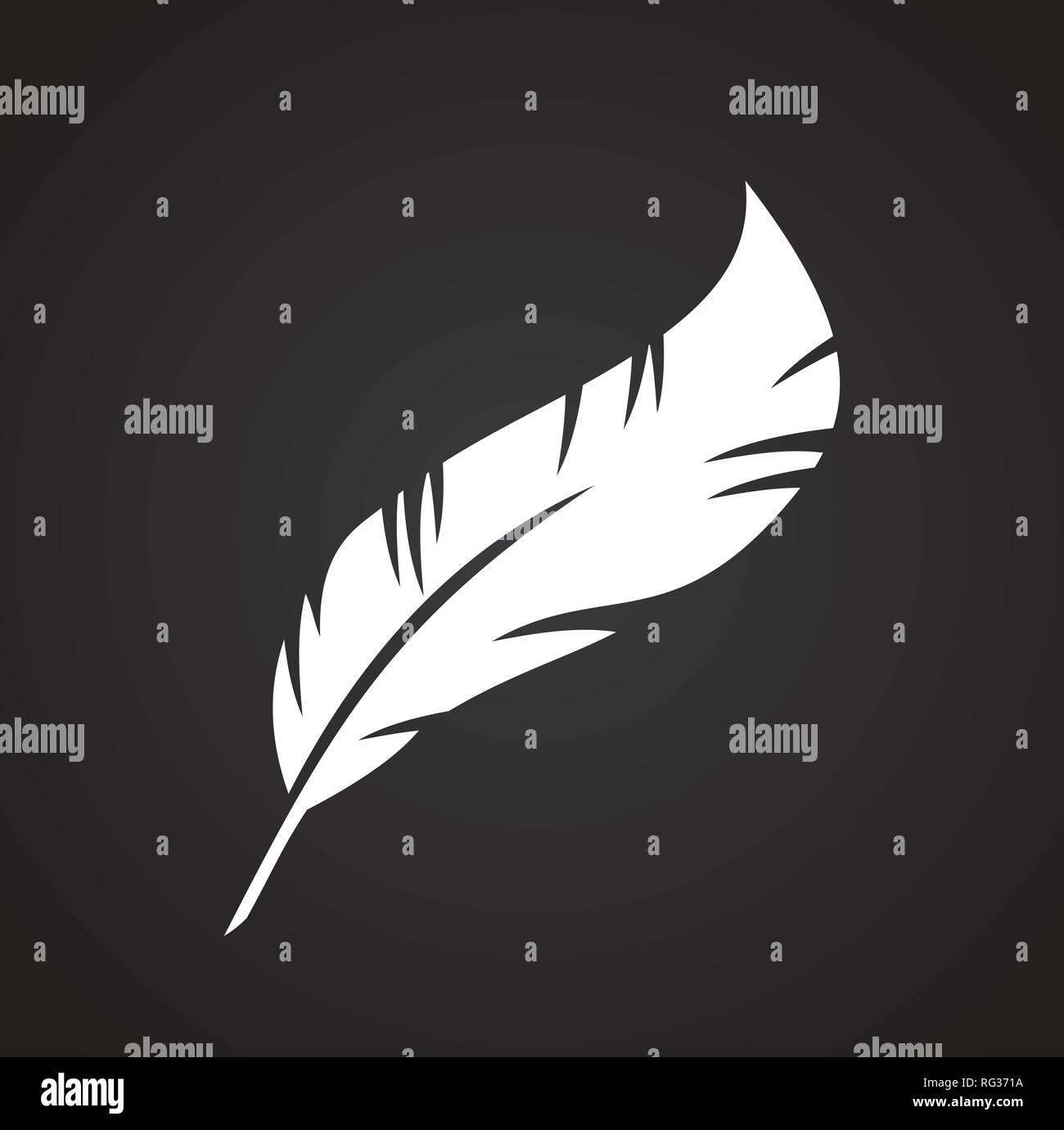 Feder Symbole auf schwarzem Hintergrund für Grafik- und Webdesign, modernen einfachen Vektor unterzeichnen. Internet Konzept. Trendy Symbol für Web site Design web-Taste oder mobile App. Stockbild