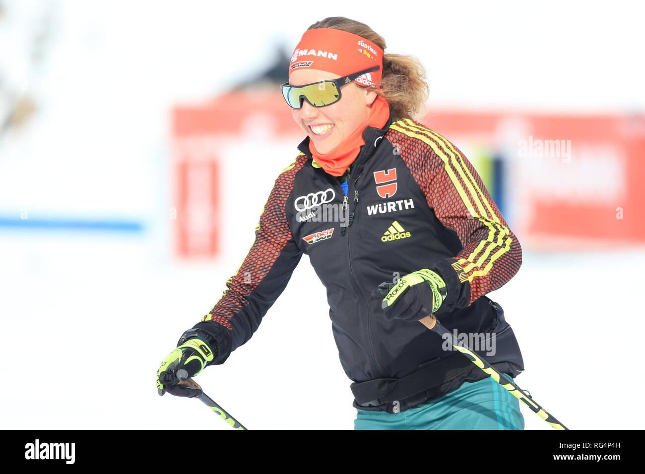 Antholz Antholz, Italien. 27 Jan, 2019. BMW Biathlon Weltcup, massenstart Frauen; Laura Dahlmeier (GER) Credit: Aktion plus Sport/Alamy leben Nachrichten Stockbild