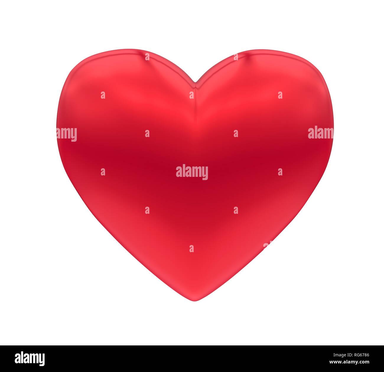 Herzform Liebe Symbol isoliert Stockbild