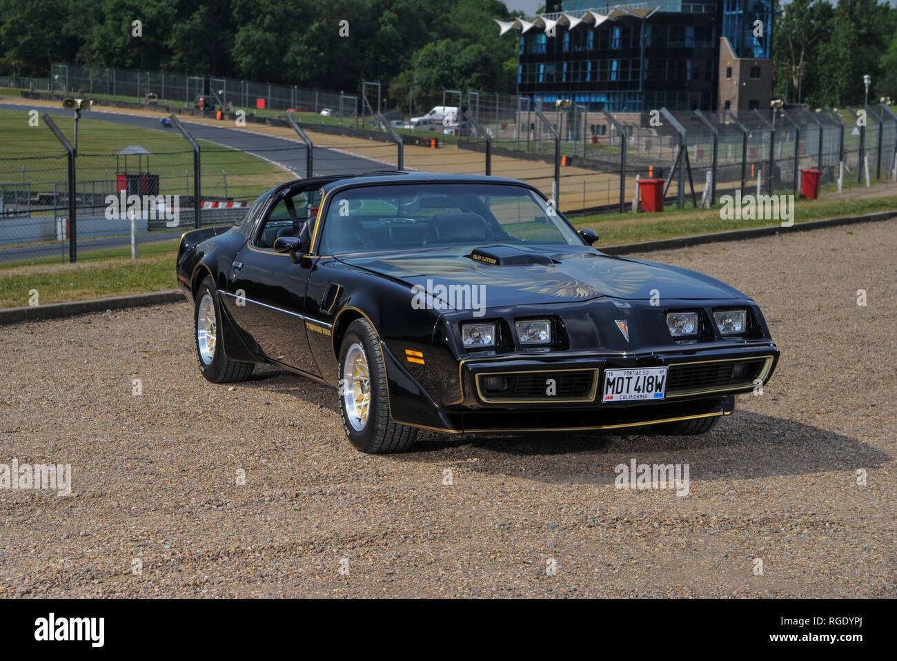 1980 pontiac trans am - classic american muscle car und verraucht