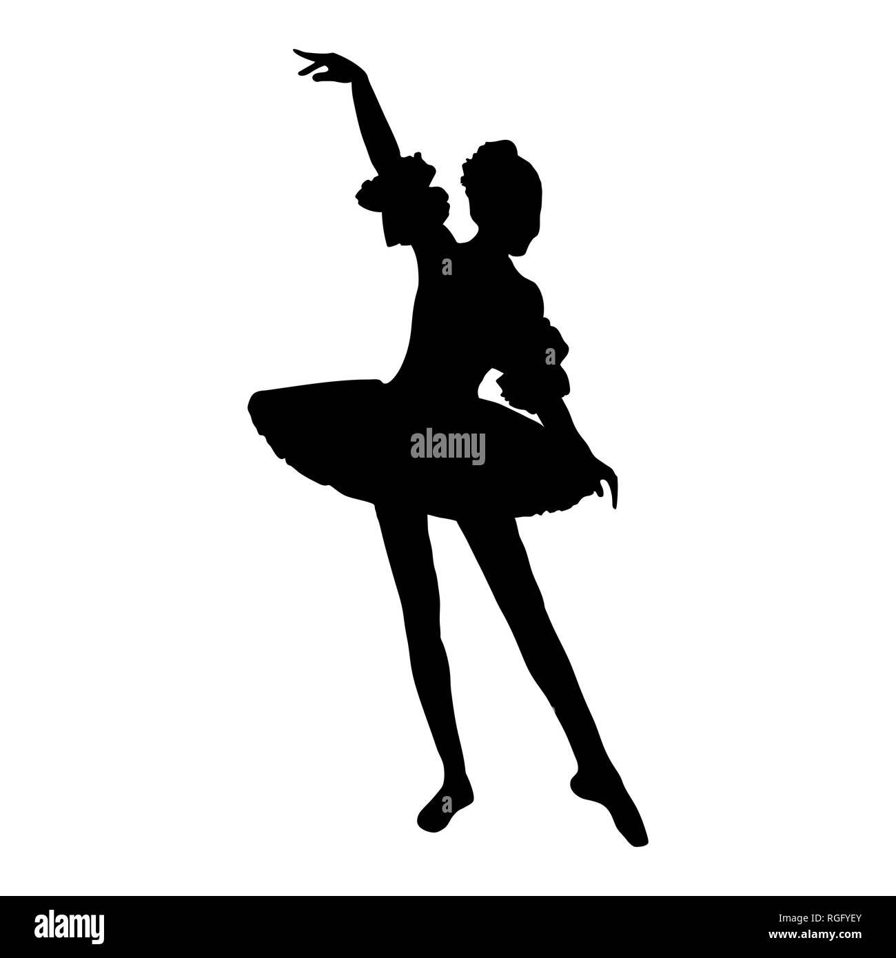 Ballet Dancer Vector Vectors Stockfotos & Ballet Dancer
