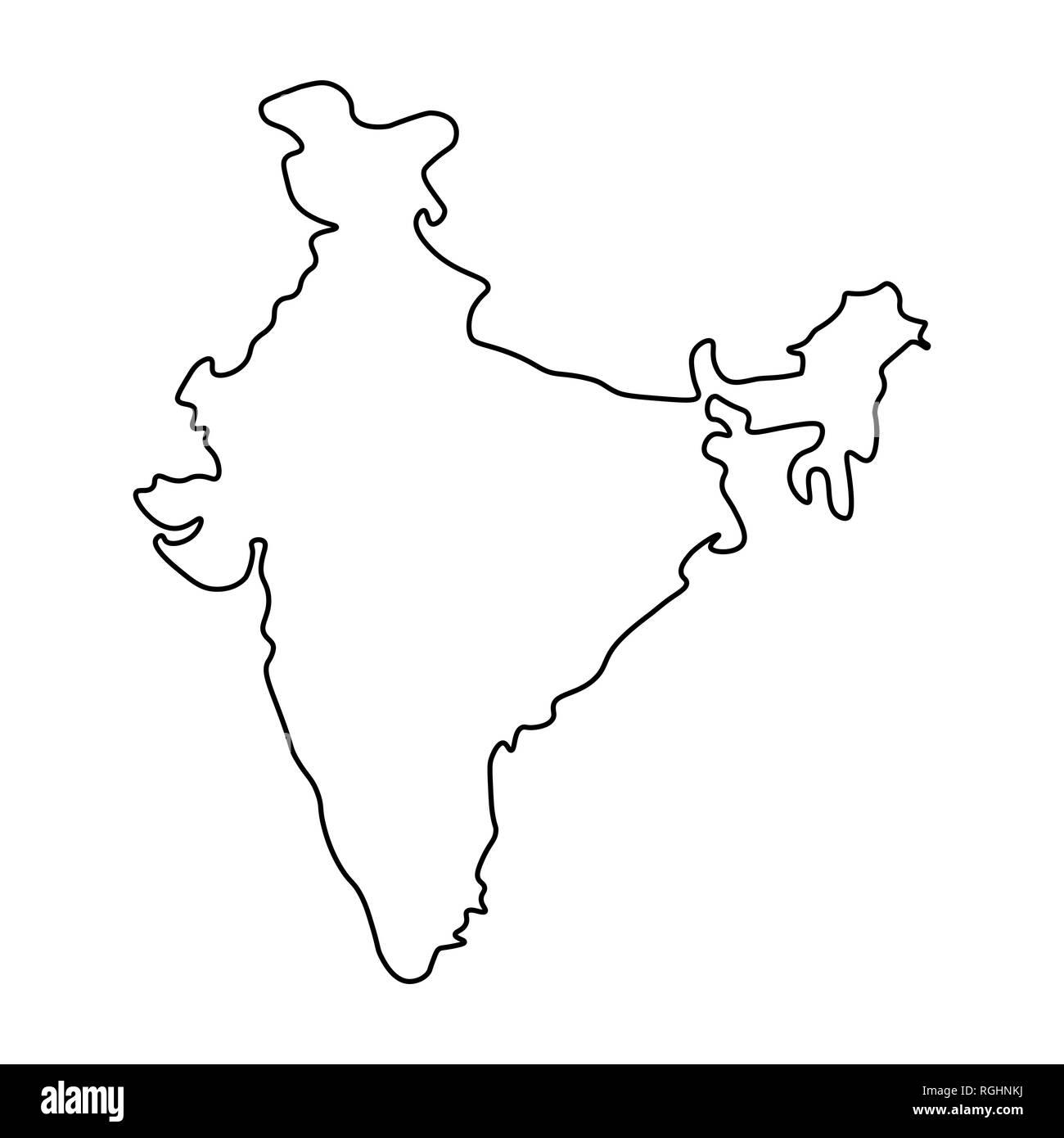 India Map Outline Stockfotos & India Map Outline Bilder - Alamy