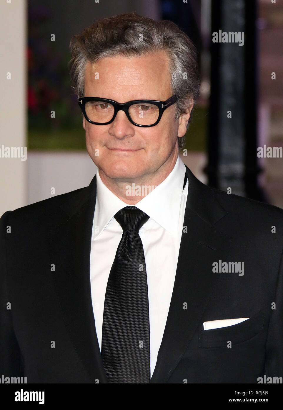 Dec 12, 2018 - Colin Firth an Mary Poppins zurück Europäische Premiere, der Royal Albert Hall in London, Großbritannien Stockbild