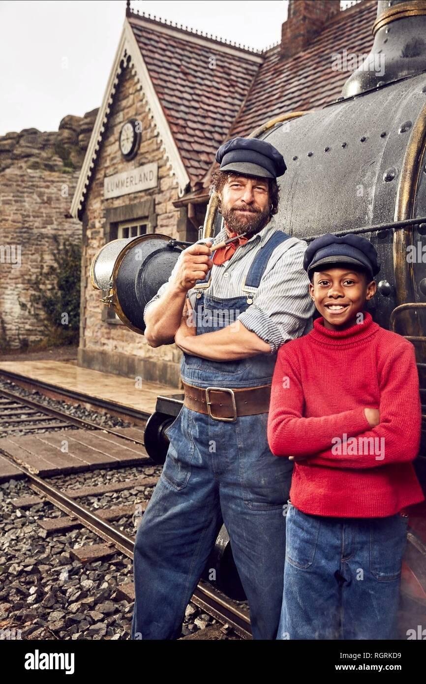 HENNING BAUM & SOLOMON GORDON Jim Knopf und Lukas der Lokomotivführer (2018) Stockbild