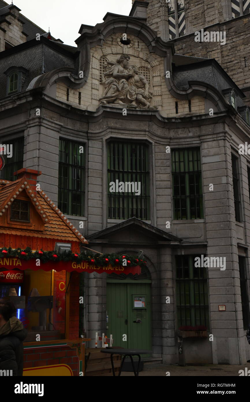Weihnachtsmarkt Heiligabend.Gent Weihnachtsmarkt Stockfotos Gent Weihnachtsmarkt Bilder Alamy