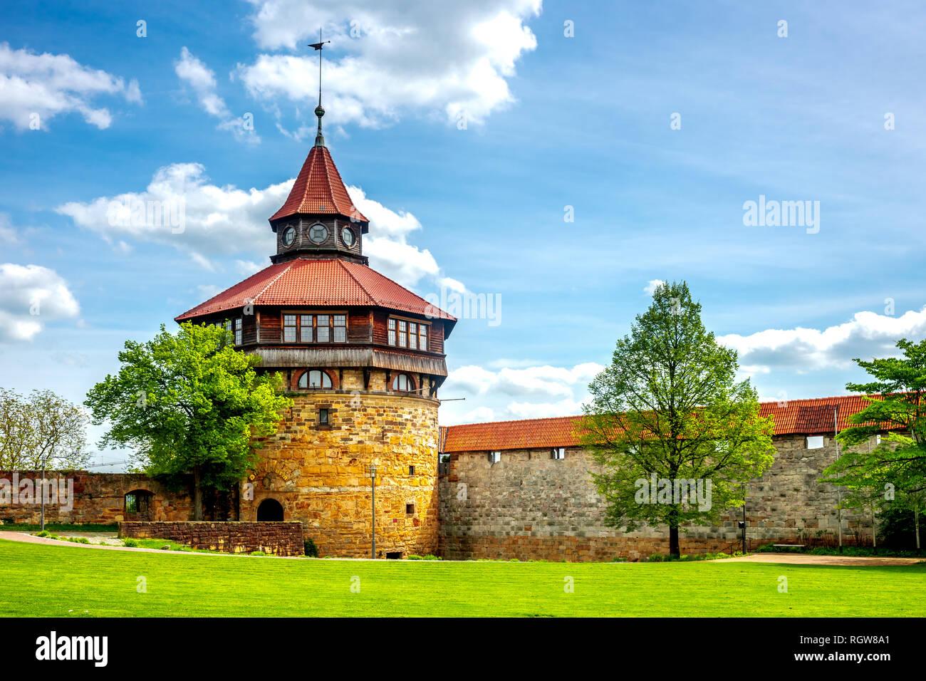 Schloss Von Esslingen Am Neckar Deutschland Stockfoto Bild