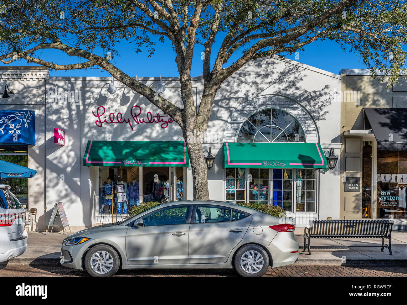 Lilly Pulitzer Signatur speichern, Winter Park, Florida, USA. Stockbild