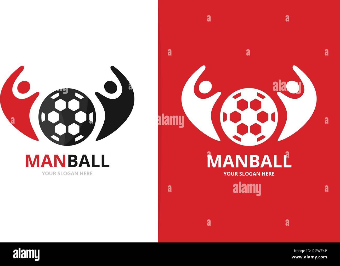Vektor Fußball und Leute logo Kombination. Kugel und Familie Symbol oder Icon. Einzigartige Fußball und Union, Hilfe, verbinden, Team Logo Design Template. Stock Vektor
