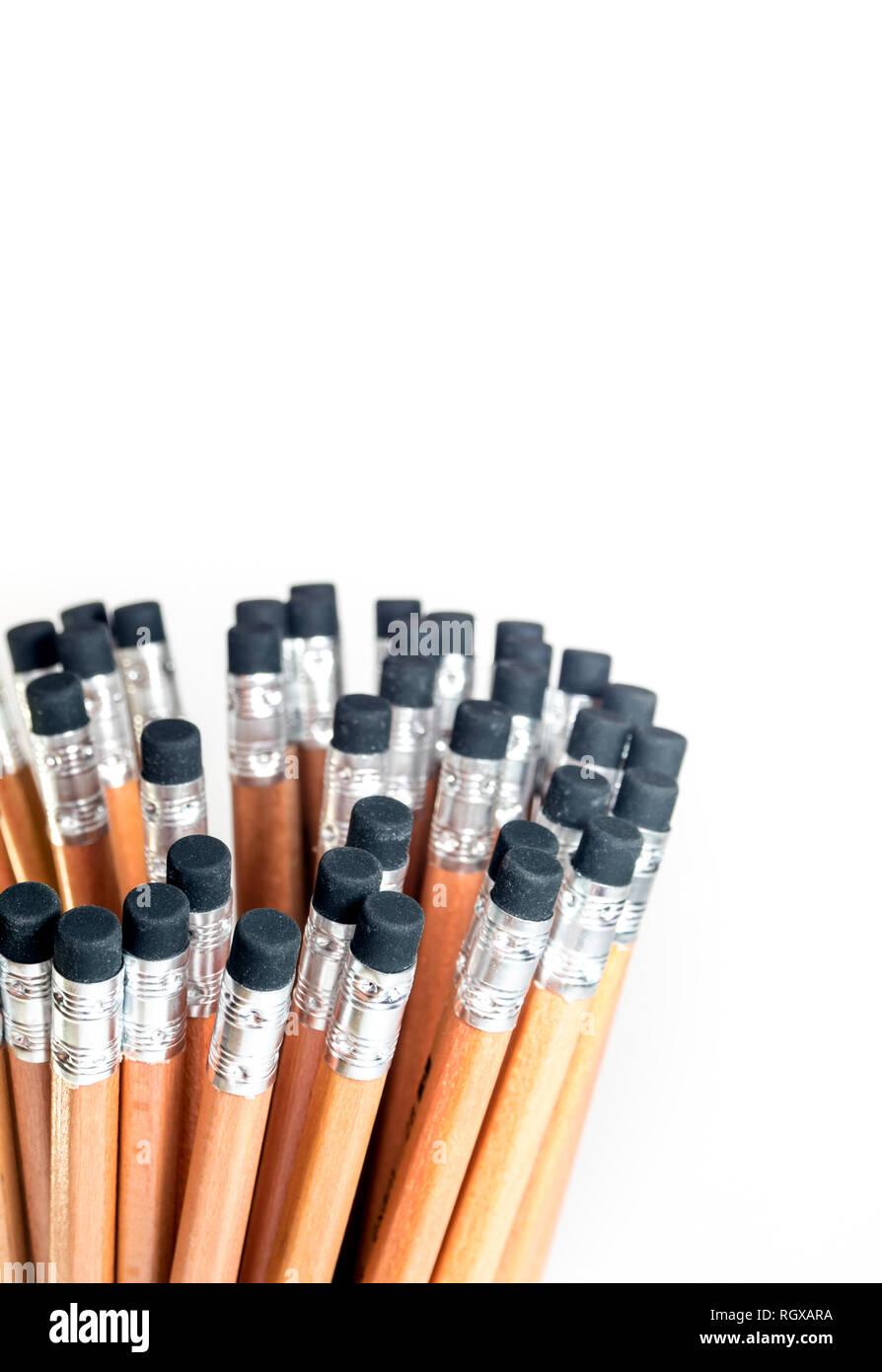 Radiergummi am Ende der Bleistift, Bleistift Stockbild