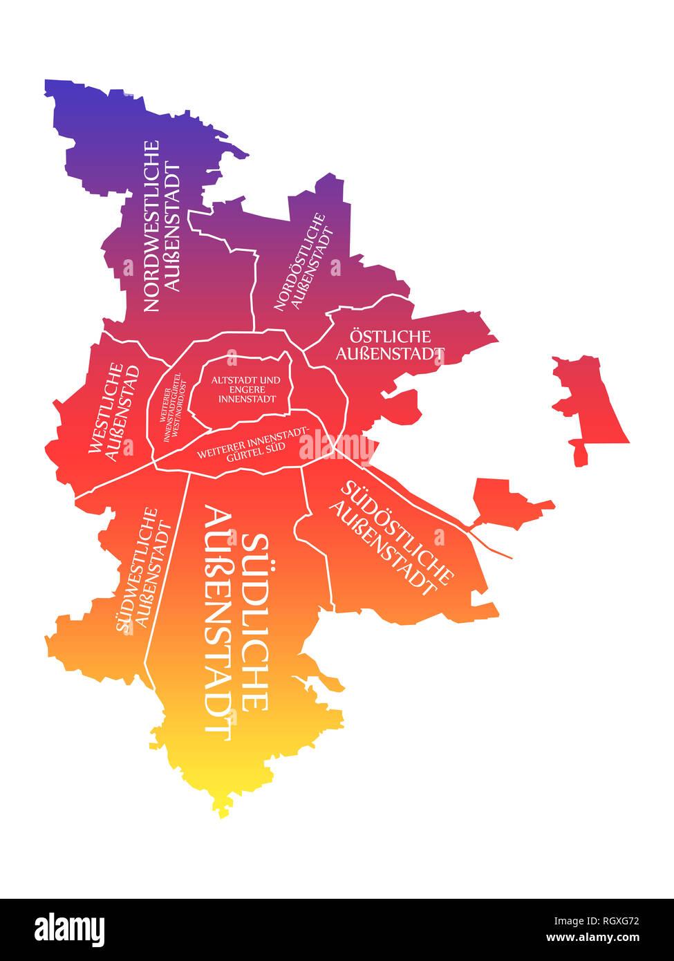 Nürnberg Karte Deutschland.Stadt Nürnberg Karte Deutschland De Beschriftet Rainbow Farbige