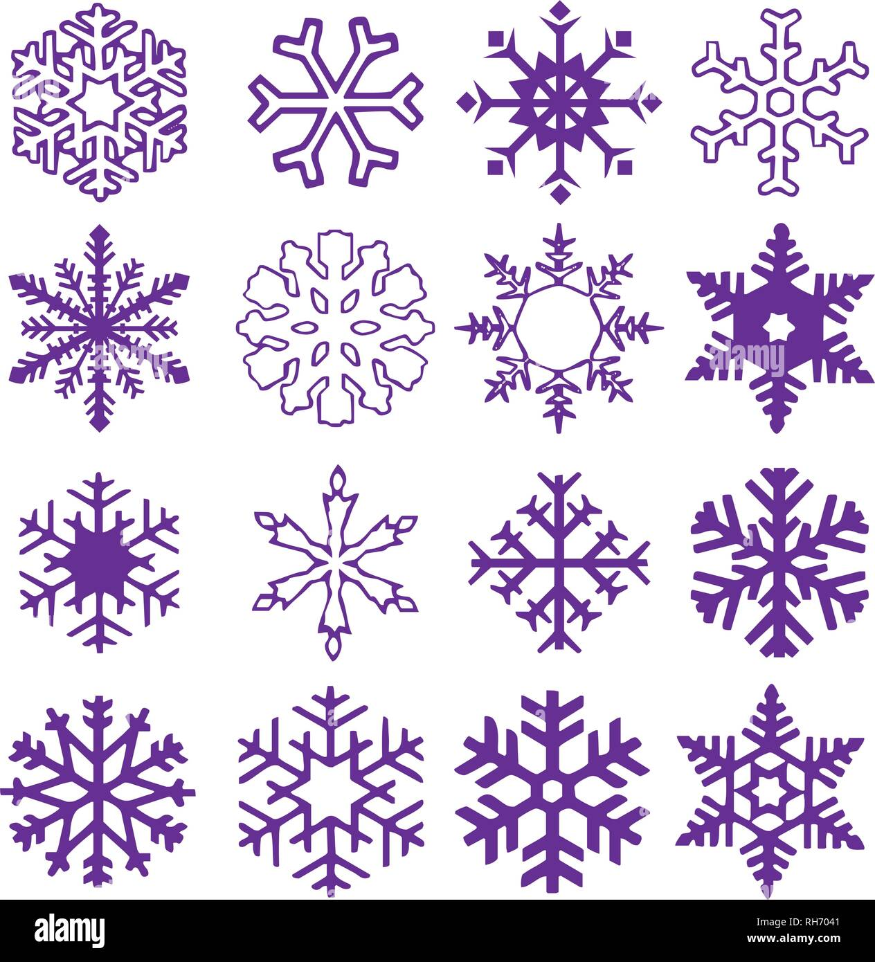2019 Weiße Weihnachten.Schneeflocke Vektor Symbol Hintergrund Proton Lila Farbe Trend 2019