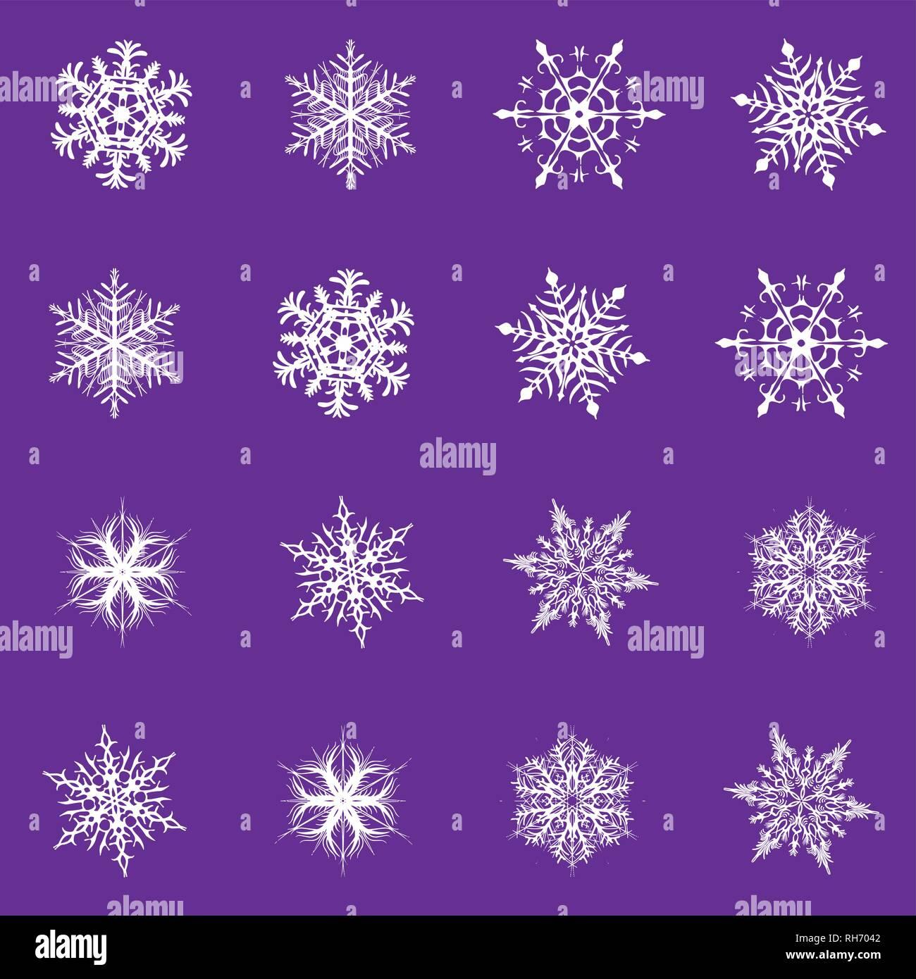 Das Wetter Zu Weihnachten 2019.Schneeflocke Vektor Symbol Hintergrund Proton Lila Farbe Trend 2019