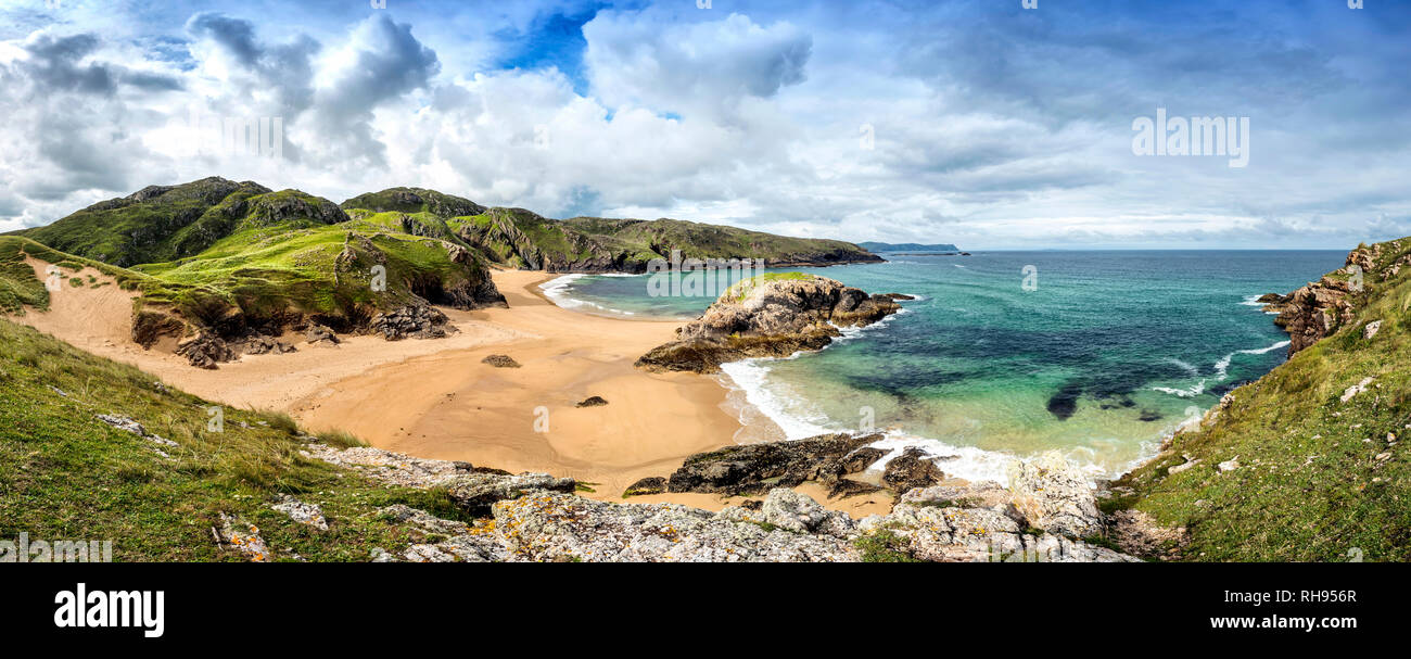 Mord Loch Strand bei Boyeeghter Bay, Rosguill, North Donegal Stockbild