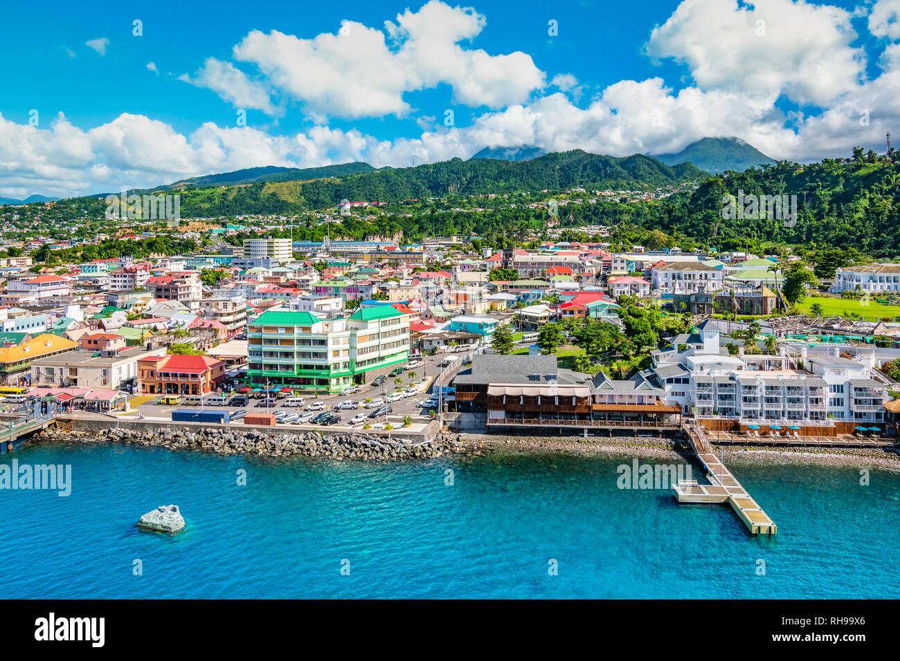 Hafen Von Roseau Dominica Stockfotografie Alamy