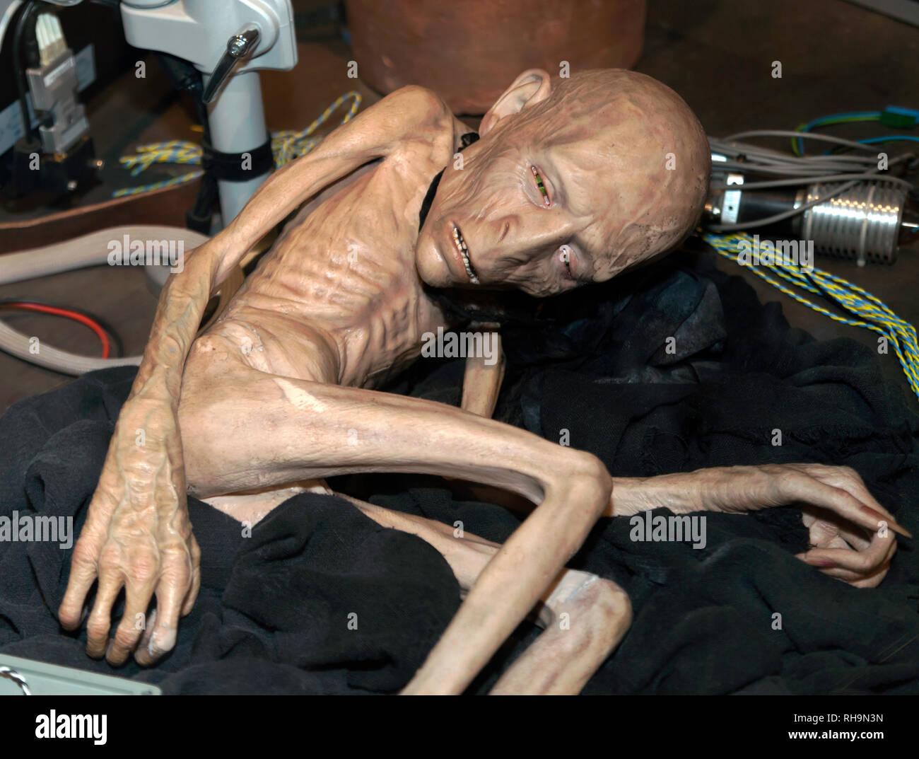 Voldemorts verstümmelten Seele in der Vorhölle, nach seinem Tod, die Herstellung von Harry Potter, Tour, Leavesdon. Stockbild
