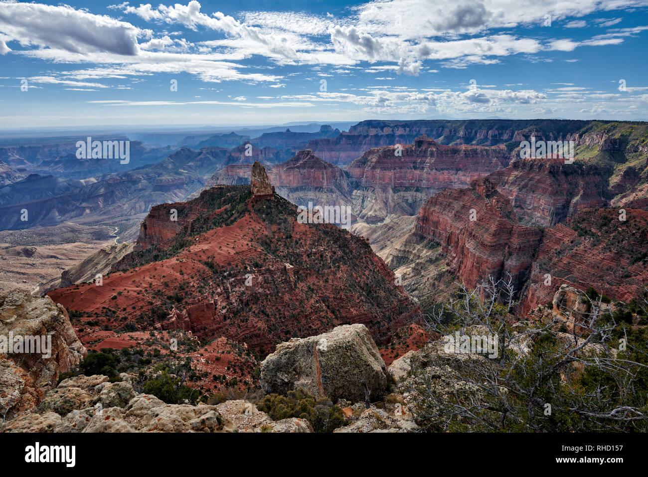 Grand Canyon, Point Imperial View Point, North Rim, Arizona, USA, Nordamerika Stockbild