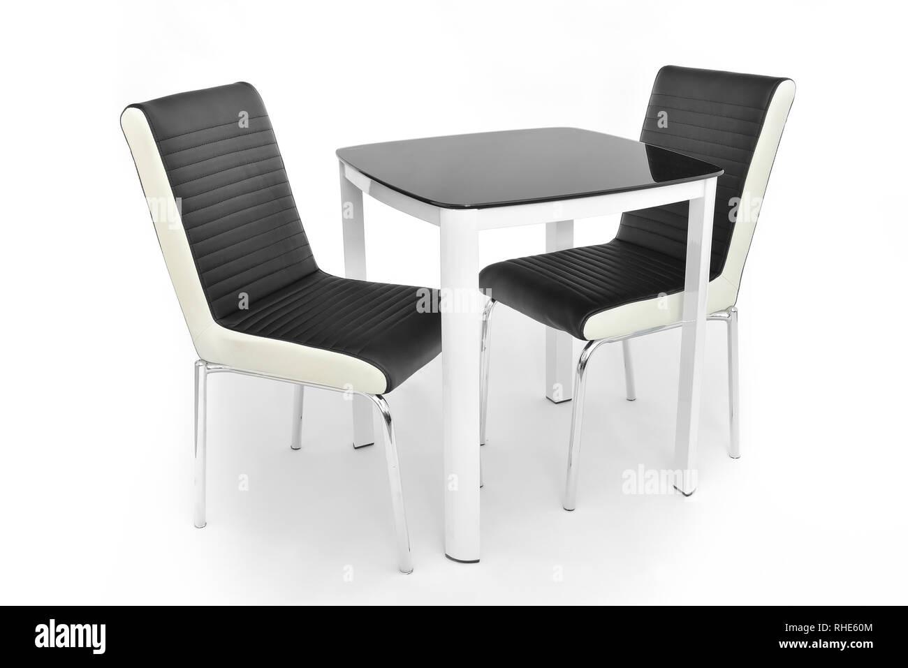 Küche Esszimmer Möbel Set von Tisch und zwei Stühle. Der moderne ...