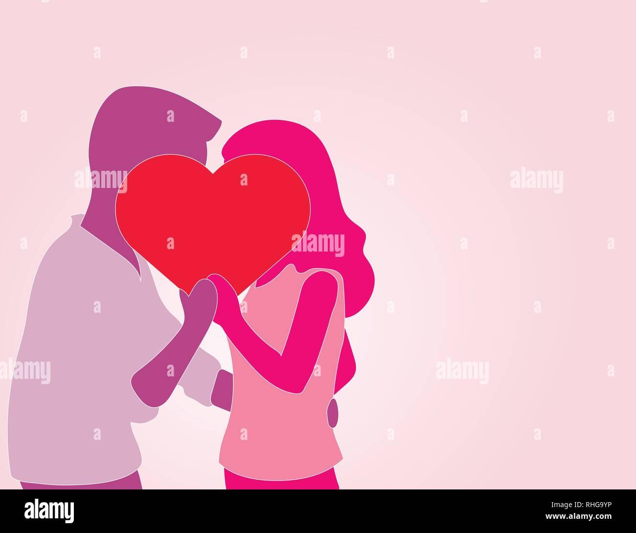 Dating-Paar Silhouette VektorErfolgreiche Dating-Tipps