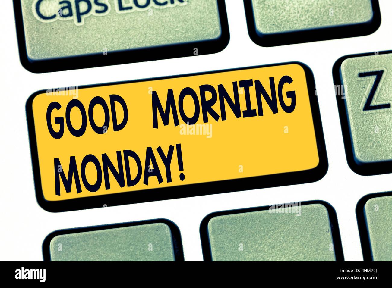 Text Zeichen Angezeigt Guten Morgen Montag Konzeptionelle