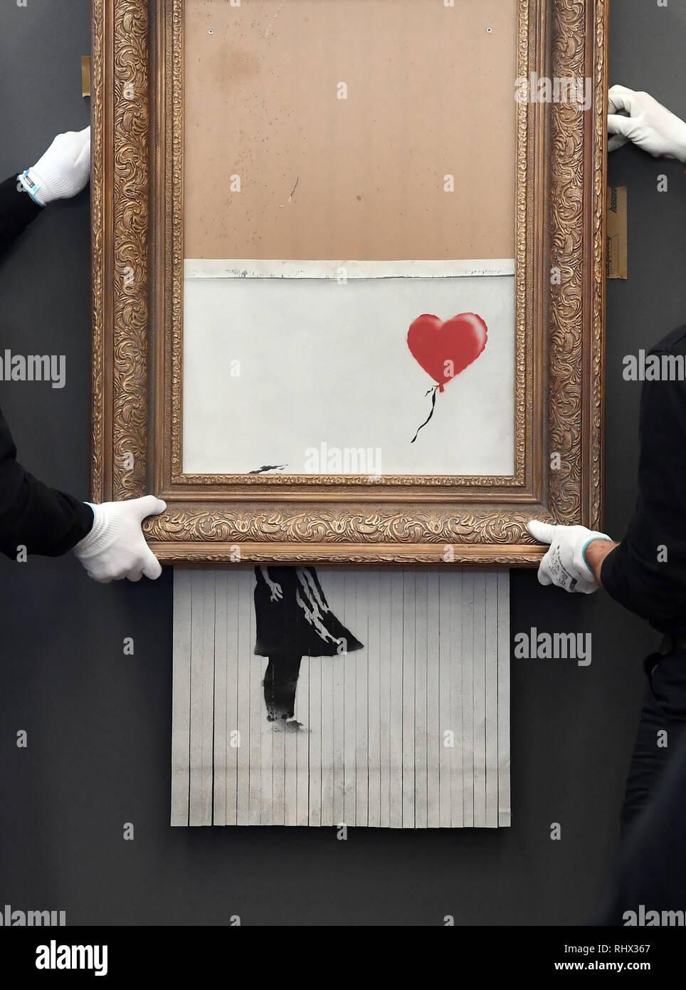 Baden Baden Deutschland 04 Feb 2019 Die Zerfetzten Banksy