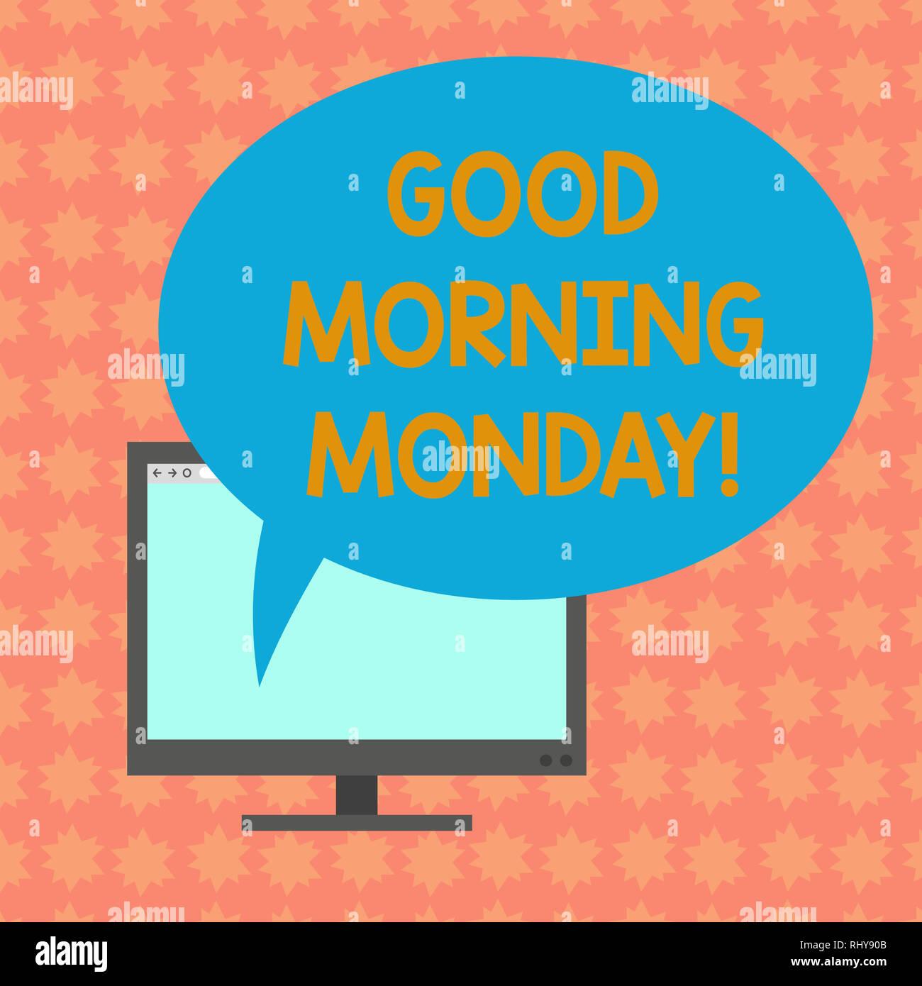 Schreiben Hinweis Angezeigt Guten Morgen Montag Business