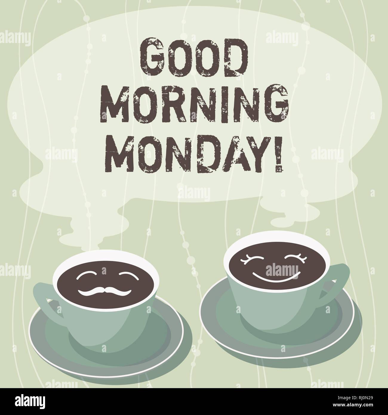 Handschrift Text Schreiben Guten Morgen Montag Konzept Sinn