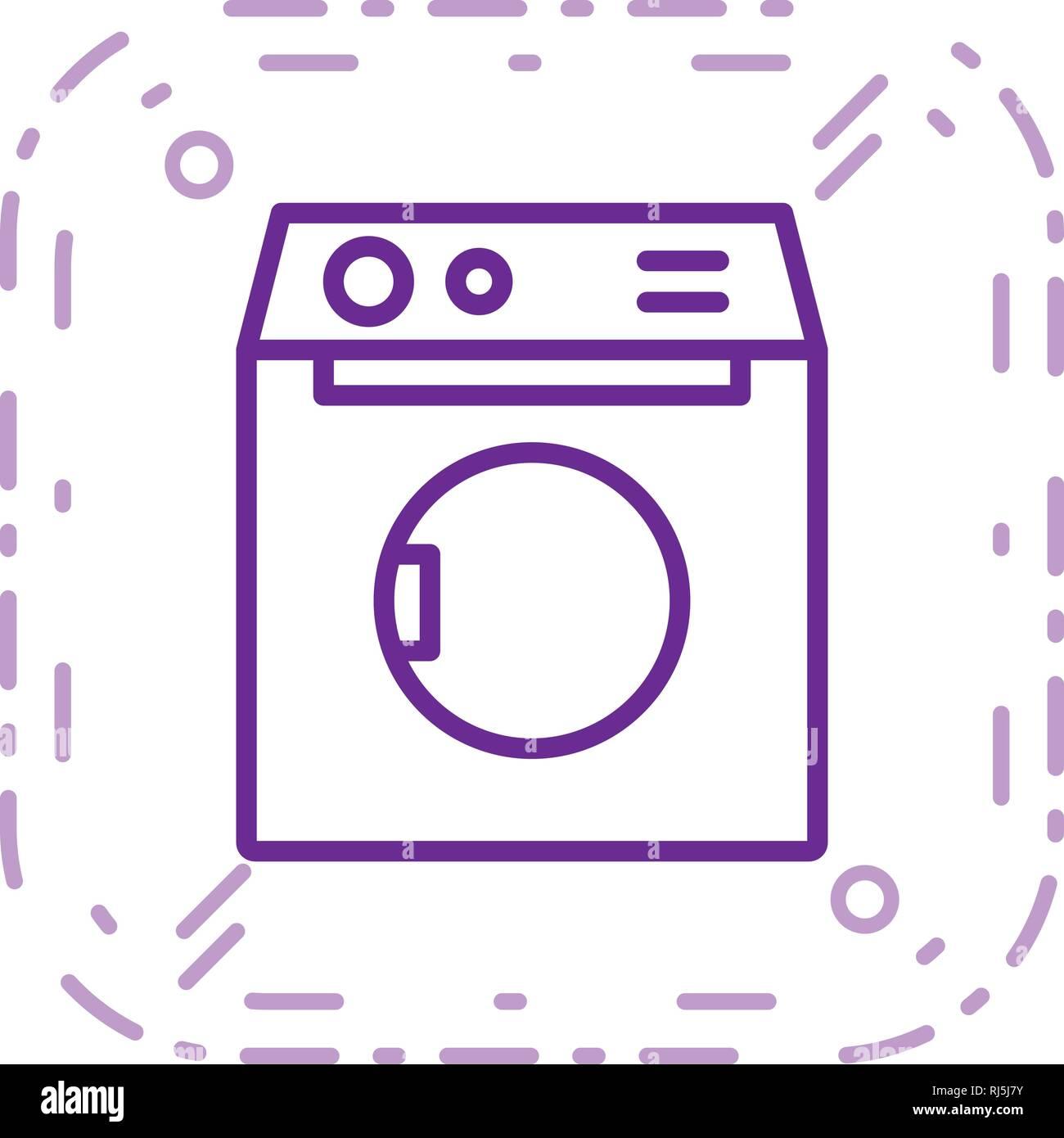 Waschmaschine Vektor Icon Zeichen Symbol Vektor Illustration Für Den