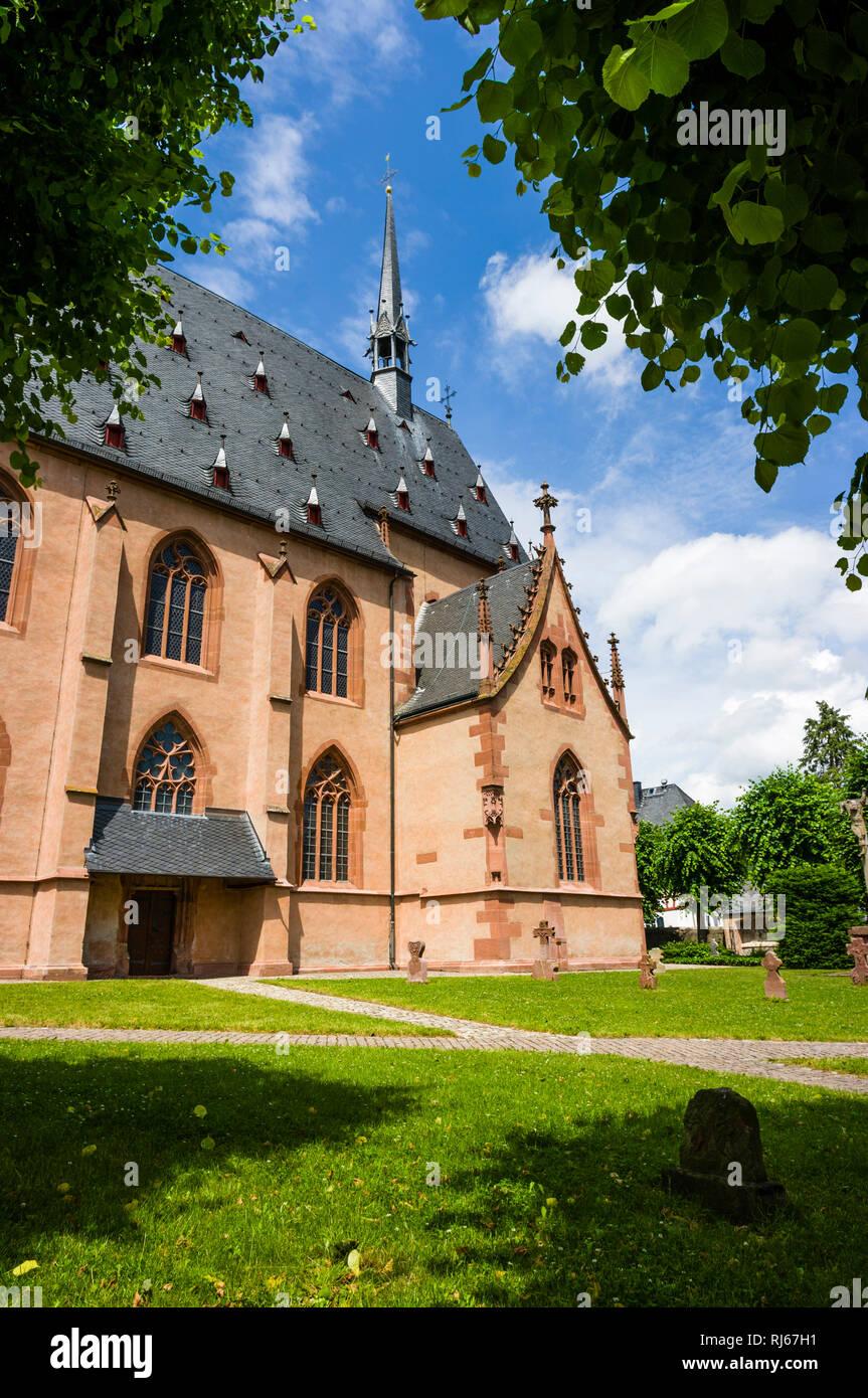 Deutschland, Hessen, Rheingau, Kiedrich, Kirche, St. Valentin, Seitenschiff, 14. Jahrhundert Stockbild