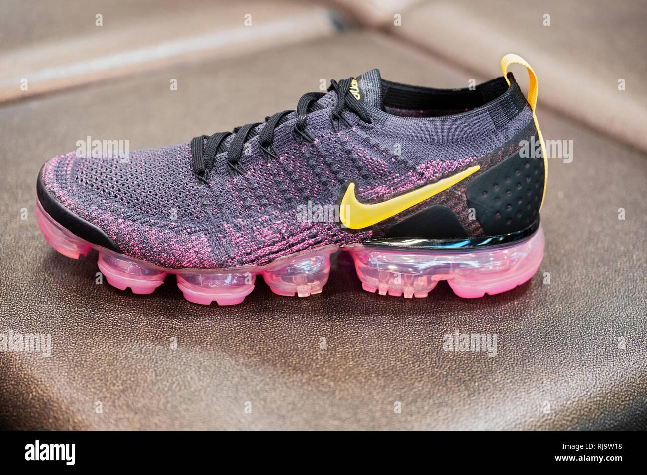 Ein Nike Vapormax Schuh, der für $ 190 ein Paar verkauft. In