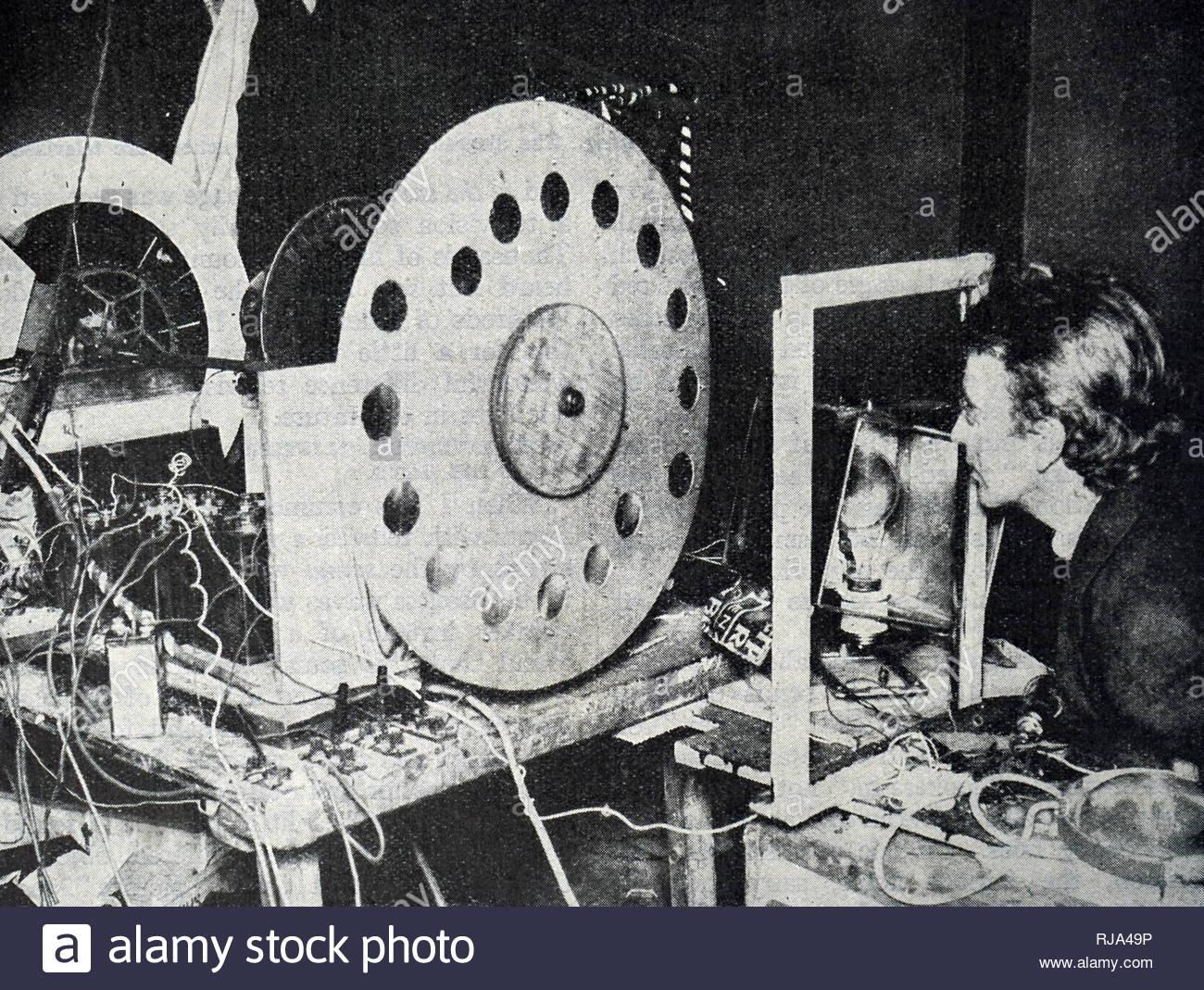 Foto von John Logie Baird (1888-1946) ein schottischer Ingenieur, Innovator, einer der Erfinder der mechanischen Fernsehen. Vom 20. Jahrhundert Stockbild