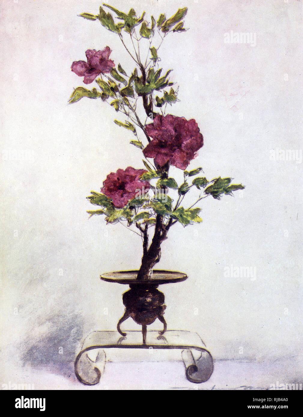 Ein Beispiel Fur Die Traditionelle Japanische Kunst Des Blumenarrangierens Wissen Wie Ikebana Stockfotografie Alamy