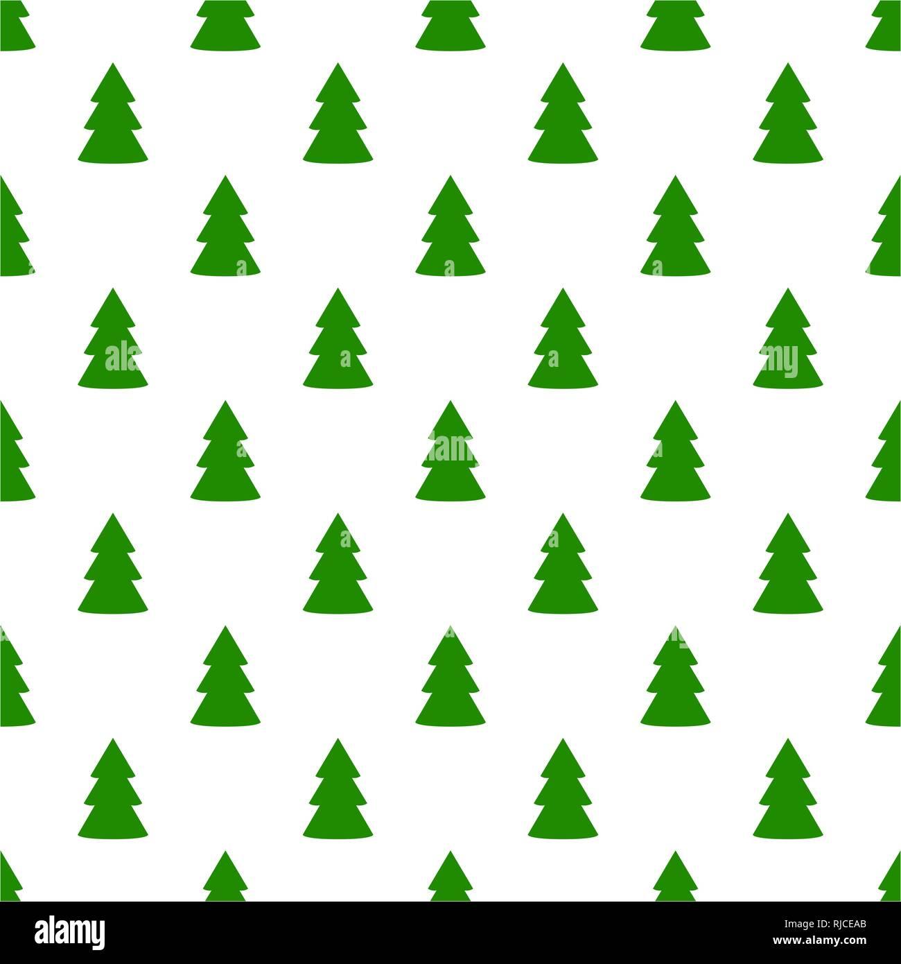 Tannenbaum Muster.Weihnachten Tannenbaum Grün Kunst Nahtlose Muster Auf Weißem Vektor