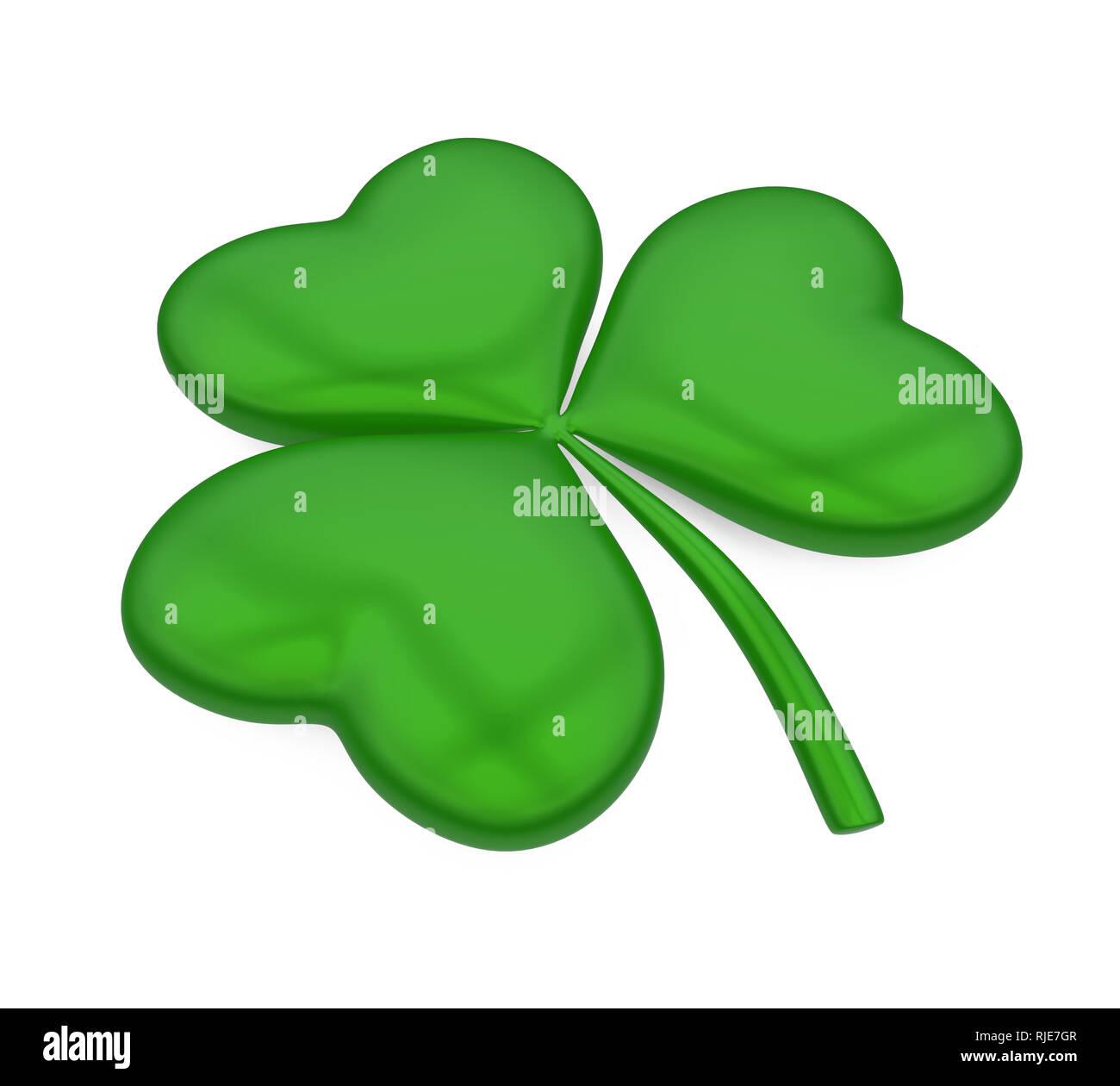 Shamrock St. Patrick's Day isoliert Stockbild