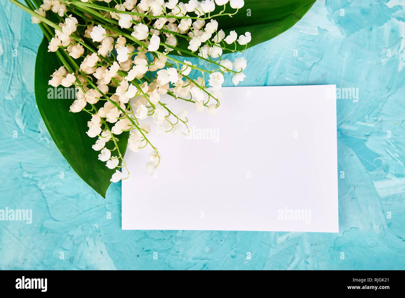 Blumenstrauß Aus Maiglöckchen In Der Nähe Von Postkarte