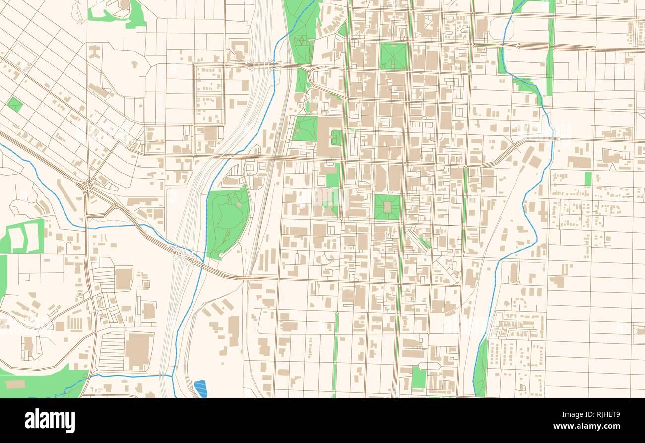 Colorado Karte.Colorado Springs Colorado Druckbare Karte Auszug Dieser Vektor