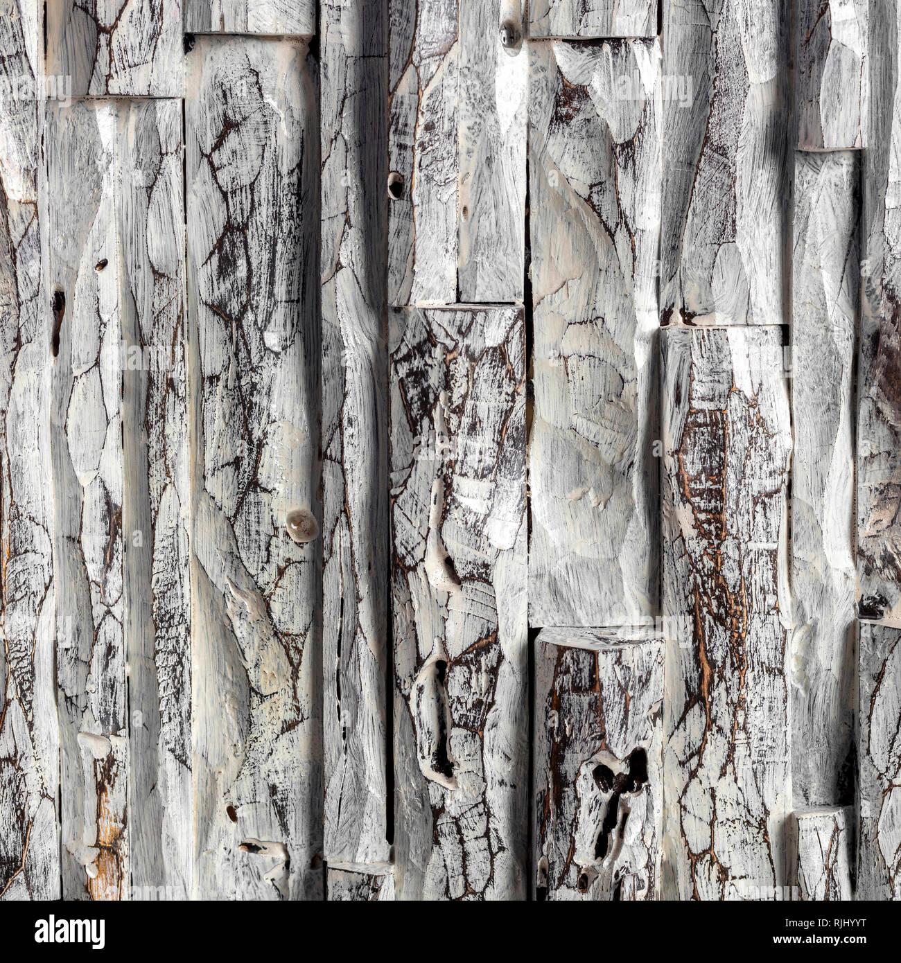 Detail Aus Geschnitztem Holz Malen Mit Acrylfarben Stockfoto Bild
