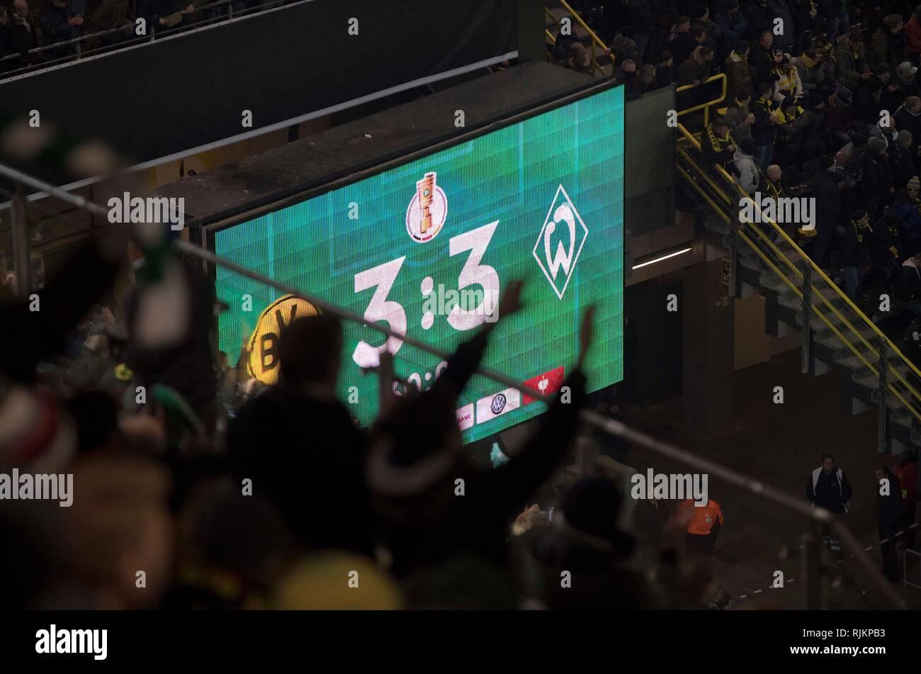 Dortmund Deutschland 06 Feb 2019 Anzeigetafel Mit Das
