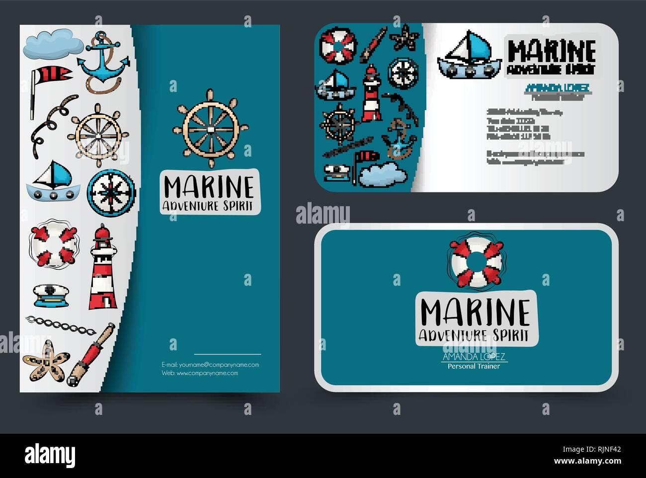 Marine Nautical Travel Corporate Identity Design Flyer Und