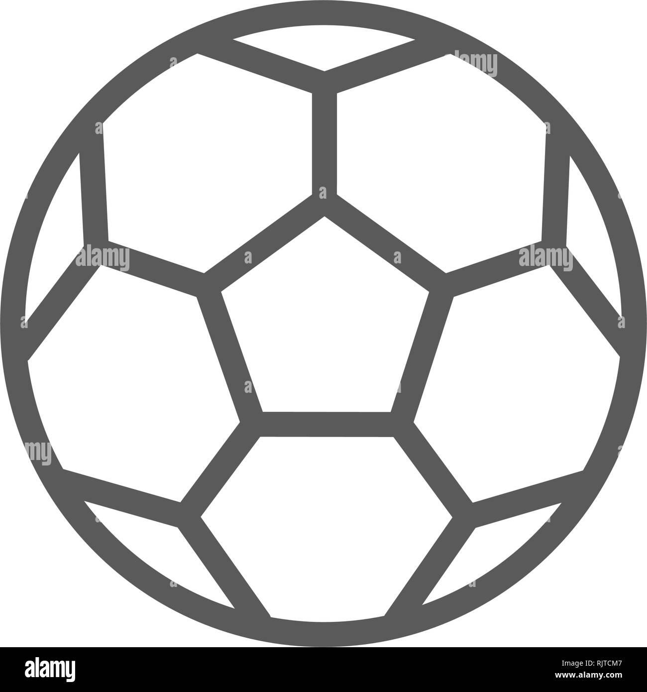 Fussball Symbol Vektor Abbildung Bild 235335415 Alamy