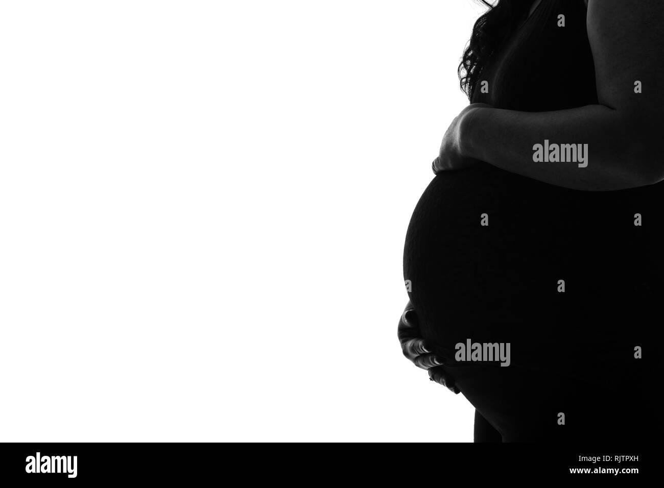 schwarz schwangeren bauch