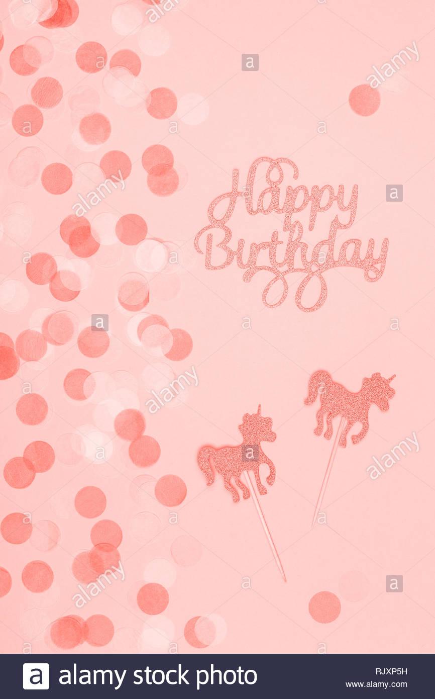 Kreative Pastell Fantasy Urlaub Karte Mit Cupcake Happy Birthday