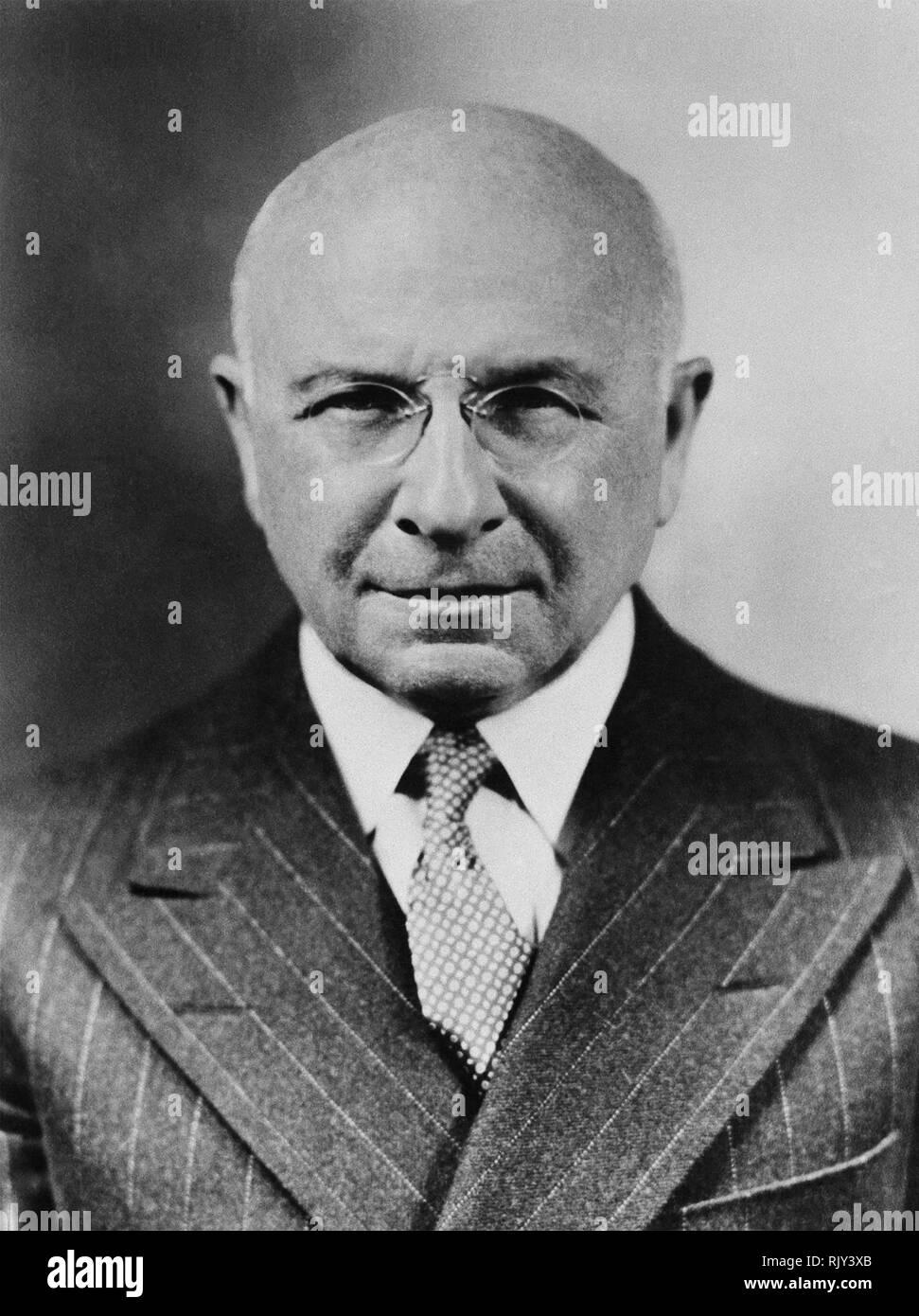 ALEXIS CARREL (1873-1944), französischer Chirurg und Biologe Stockbild
